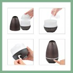 Essential Oil diffuser Brown with 7 color LED lights