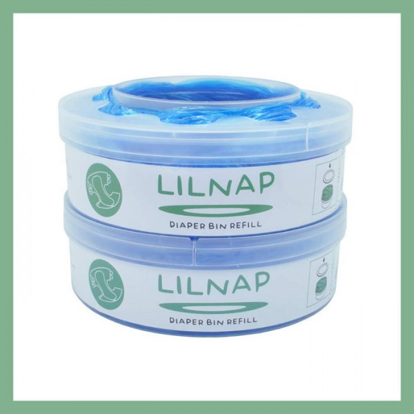 LILNAP Refill cassettes for Sangenic diaper pail 2-pack