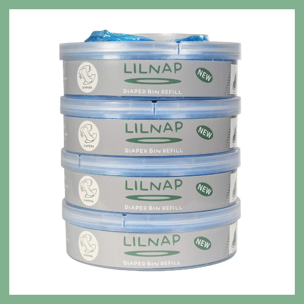 LILNAP Refill cassettes for Sangenic diaper pail 4-pack