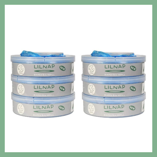 LILNAP Refill cassettes for Sangenic diaper pail 6-pack