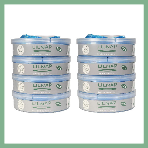 LILNAP Refill cassettes for Sangenic diaper pail 8-pack