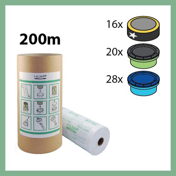 200 meters - Universal Diaper pail refill + Skid