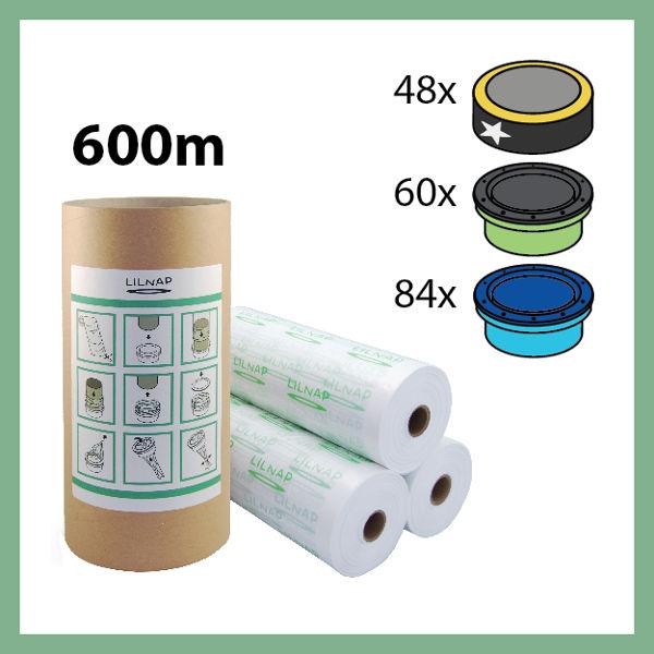 600 meters - Universal Diaper pail refill + Skid