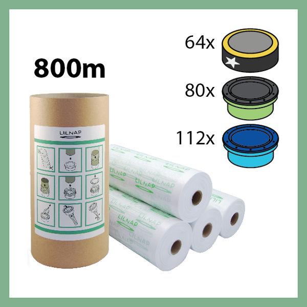 800 meters - Universal Diaper pail refill + Skid