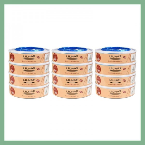 LILNAP Refill cassettes for Angelcare diaper pail 12-pack
