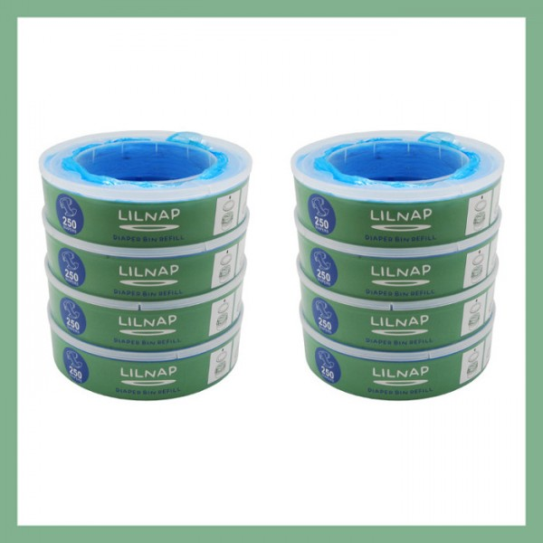 LILNAP Refill cassettes for Angelcare diaper pail 8-pack