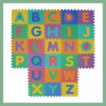 Tappeto puzzle atossico, alfabeto