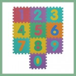 Puzzle mat for children - Letters + Numbers
