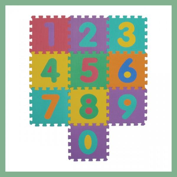 Tappeto puzzle atossico, Numeri
