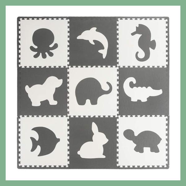 Tappeto Puzzle con Animali