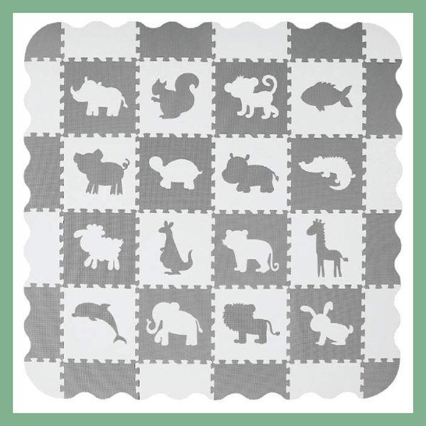Tappeto puzzle per bambini, forme animali